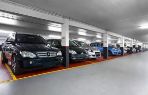 Cars Parked in A Parking Lot At France